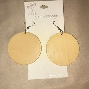 Vintage Wood Earrings Never Worn